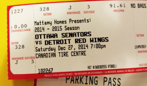 Hockey Game Ticket in Ottawa