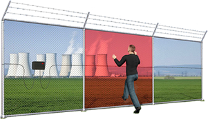 perimeter security motion sensor fence